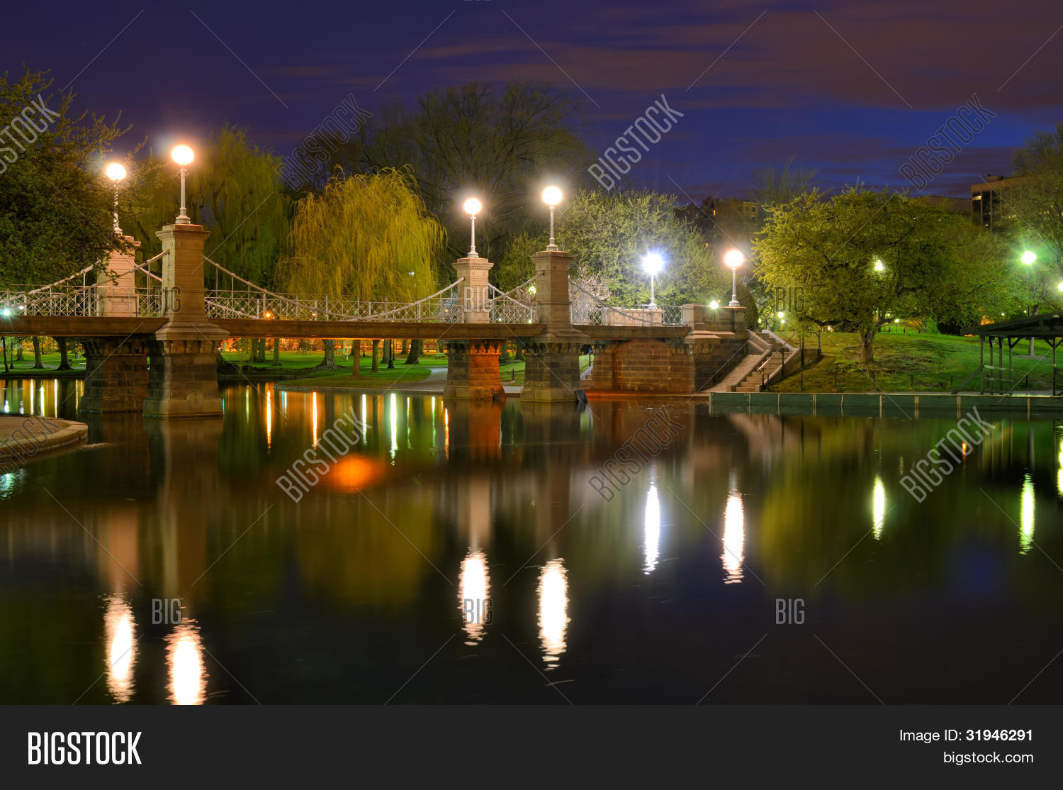Lagoon Bridge Boston Image & Photo (Free Trial) | Bigstock