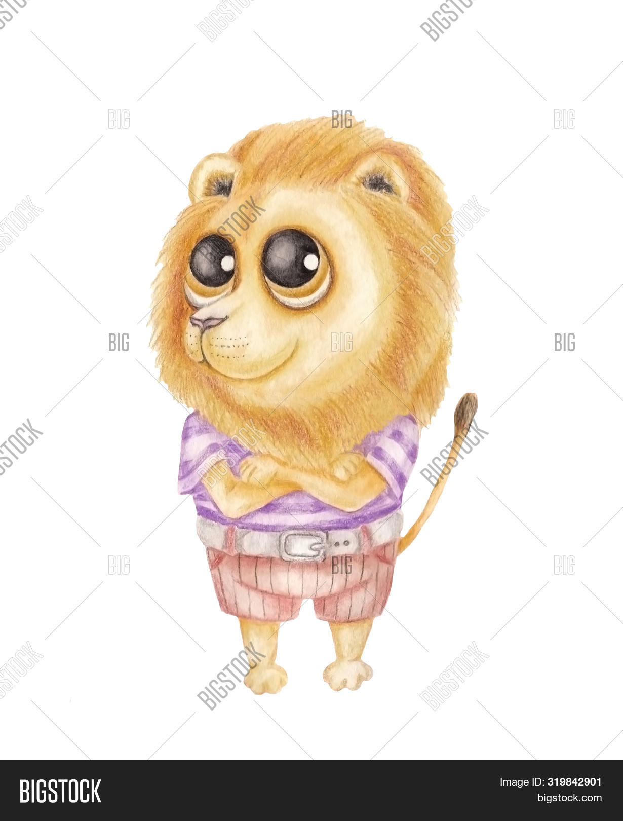 Cute Lion Boy Big Eyes Image Photo Free Trial Bigstock