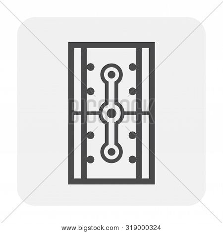 Waterproofing Material Or Waterstop Rubber Product Icon Design, Black And Outline.