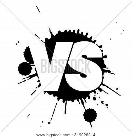 Versus Sign Black Vector Photo Free Trial Bigstock