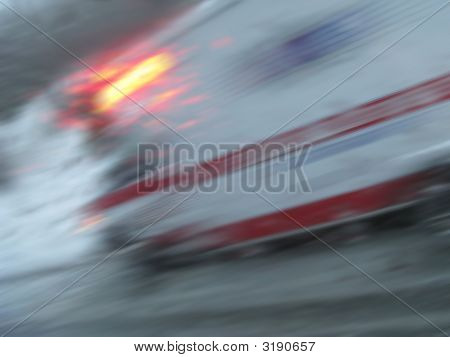 Winter Accident Ambulance Blur