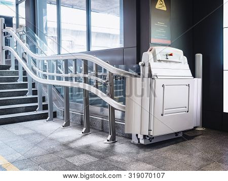 Disability Stairs Lift Facility Indoor Public Building Wheelchair Elevator