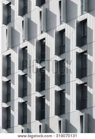 Architecture Detail Window Frame Pattern Modern Building Exterior Shade And Shadow