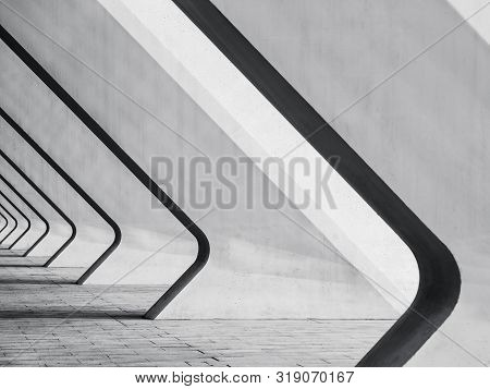 Architecture Details Modern Building Concrete Bias Columns Space Perspective Abstract Background