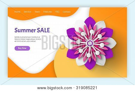 Summer Sale Vector, Special Proposition From Shops And Stores, Clearance And Promotions Of Supermark