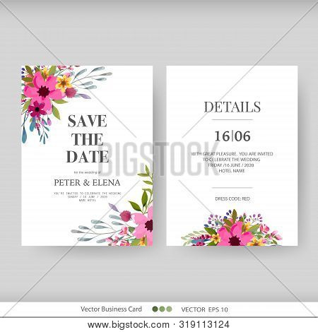 Wedding Invitation Vector Photo Free Trial Bigstock