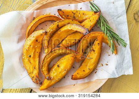 Baked Slices Of Pumpkin