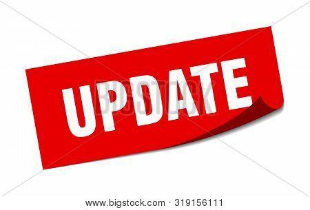 Update Sticker. Update Square Isolated Sign. Update