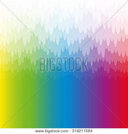 Rainbow Colored Misty And Mystic Background With White Pendant Translucent Bank Of Haze. Spectral Co