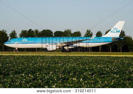 Amsterdam / Netherlands - July 3, 2017: Klm Royal Dutch Airlines Airbus A330-300 Ph-aka Passenger Pl