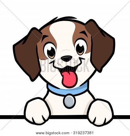 Cartoon Vector Cute Puppy Dog Pointer For Design Element