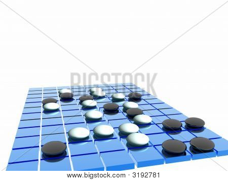 Blue Go Game Board