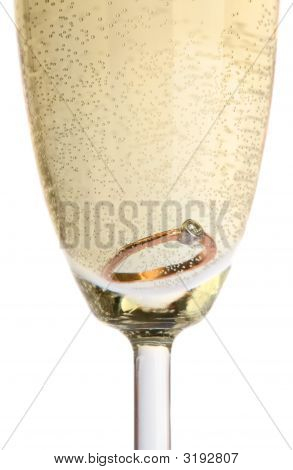 Gold Ring In Champagne