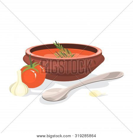 Cold Gazpacho Soup. Fast And Easy Dinner