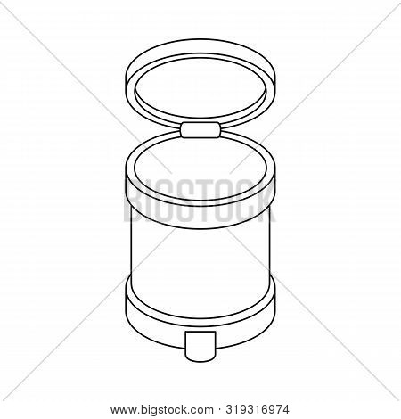 Vector Design Of Bin And Dustbin Logo. Collection Of Bin And Bin Stock Vector Illustration.