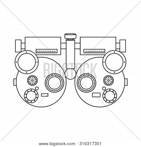 Vector Design Of Gadget And Optometrist Icon. Set Of Gadget And Check Stock Symbol For Web.