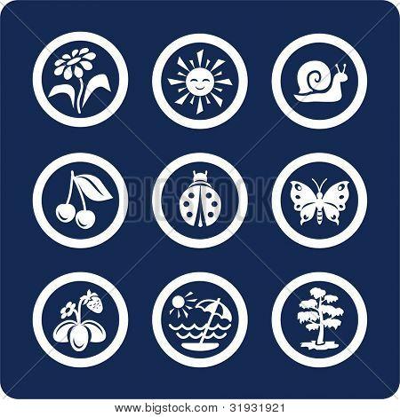 Estaciones: Verano los iconos para ver todos los iconos, búsqueda por palabras clave: