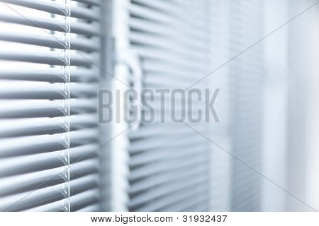 Room decoration  with plastic sunblinds close up
