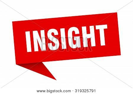Insight Speech Bubble. Insight Sign. Insight Banner