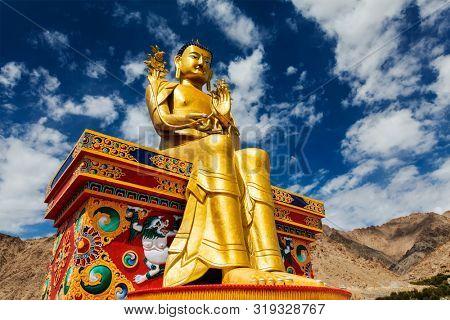 Buddha Maitreya statue in Likir gompa (monastery), Ladakh, India