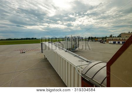 The Gangway Or Jetway At An Airport.