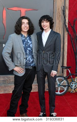 LOS ANGELES - AUG 26:  Nick Wolfhard, Finn Wolfhard at the