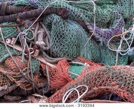 Fishermans Nets And Ropes