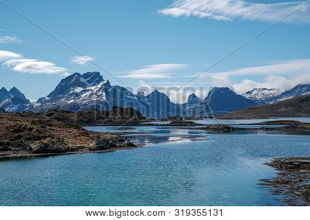 Norway Mountain Over Lysefjord. Natural Scandinavian Landscape
