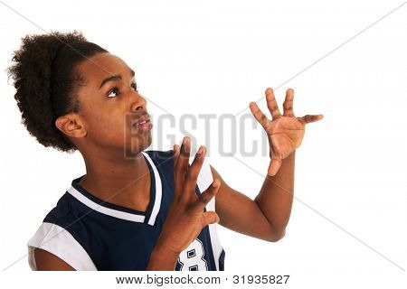 basketball player standing in the studio