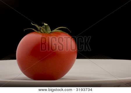 Tomato And Plate