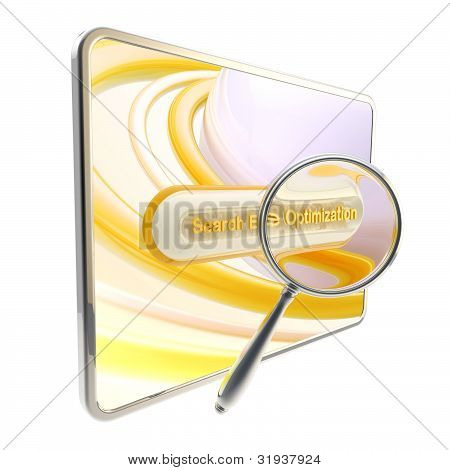 Search engine optimization icon isolated
