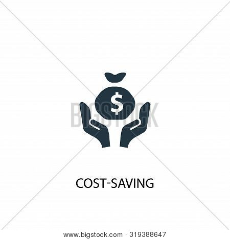 Cost-saving Icon. Simple Element Illustration. Cost-saving Concept Symbol Design. Can Be Used For We