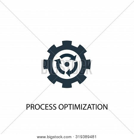 Process Optimization Icon. Simple Element Illustration. Process Optimization Concept Symbol Design.