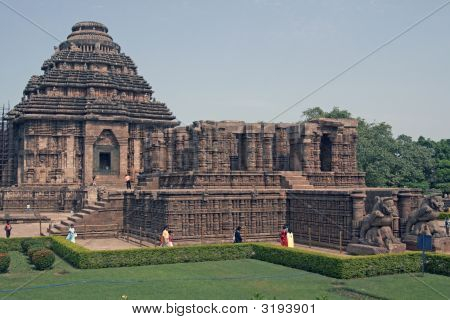 Hindu Sun Temple At Konark