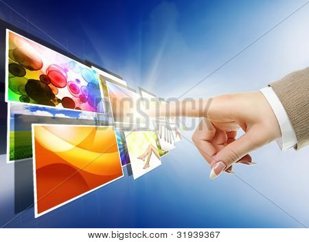 Hand Reaching With The Finger Images Streaming