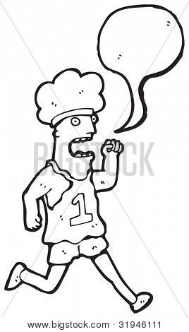cartoon runner with speech bubble
