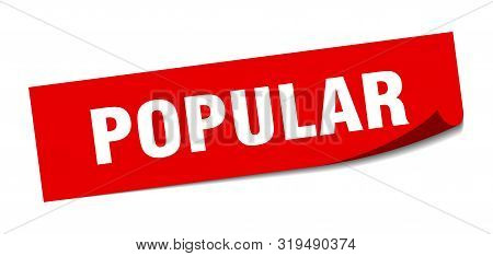 Popular Sticker. Popular Square Isolated Sign. Popular