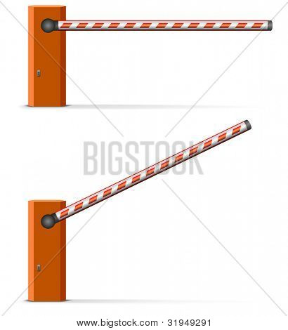 illustration of an open and closed car barrier