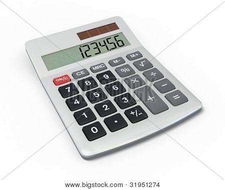 Calculator, close-up view