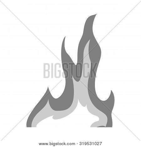 Vector Design Of Bonfire And Ignite Symbol. Set Of Bonfire And Temperature Stock Vector Illustration