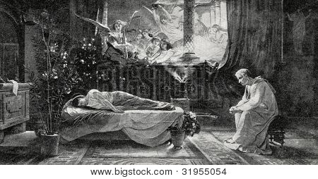 Death of St. Cecilia. Picture by de Iviend. Published in magazine