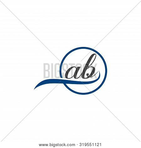 Initial Lowercase Letter Ab Rounded Logo On Multiple Backgrounds, Ab Logo,  Ab Initial Logo.  Ab Mon