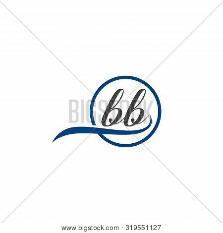Initial Lowercase Letter Bb Rounded Logo On Multiple Backgrounds, Bb Logo,  Bb Initial Logo.  Bb Mon