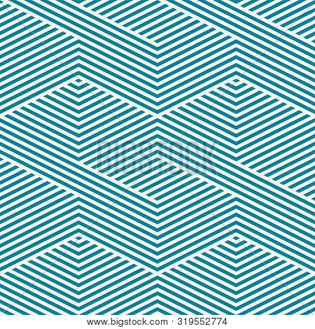 Vector Geometric Lines Pattern. Simple Texture With Diagonal Stripes, Lines, Chevron, Zigzag. Abstra