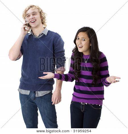 annoyed girlfriend