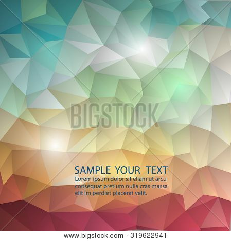 Color Wheel Abstract Geometric Rumpled Triangular Background Low Poly Style.