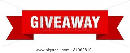 Giveaway Ribbon. Giveaway Isolated Sign. Giveaway Banner