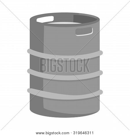 Vector Illustration Of Cask And Barrel Logo. Set Of Cask And Sketch Vector Icon For Stock.