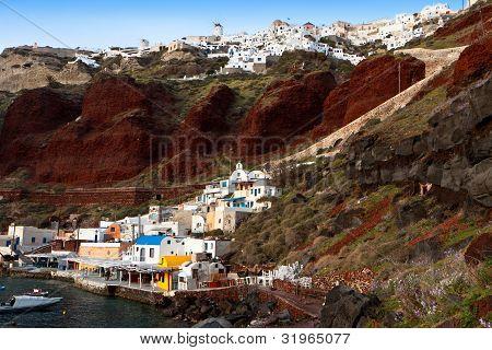Oia village of Santorini island in Greece