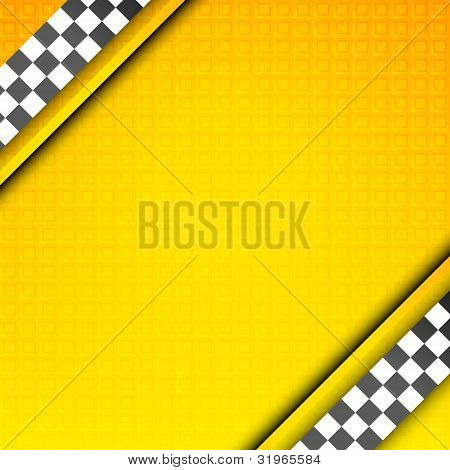 Racing template, taxi backdrop